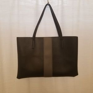 Vince Camuto Black Gray Vegan Leather Lucky Tote
